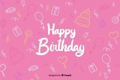 Birthday Wishes, Birthday Cards, Happy Birthday, Birthday Background, Backgrounds Free, Red Ribbon, Vector Free, How To Draw Hands, Neon Signs