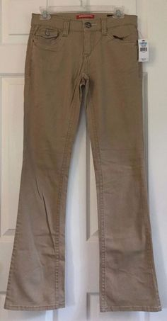 UNIONBAY Twill Pants Jeans Size 5 True Boot Stretch Mid Rise Brown Cotton NWT #UNIONBAY #BootCut