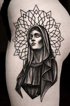 """graphictattoos: """" By Kamil Czapiga ! Aa Tattoos, Kunst Tattoos, Future Tattoos, Small Tattoos, Tattoos For Guys, Sleeve Tattoos, Black Art Tattoo, Dot Work Tattoo, Black Tattoos"""