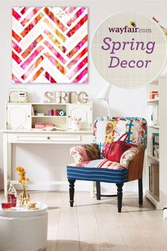 Decorate your living room for spring. Shop up to 70% off spring decor on Wayfair.com!