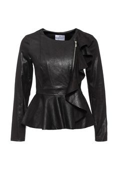 Куртка кожаная Rinascimento купить за 11 999руб RI005EWKHA00 в интернет-магазине Lamoda.ru