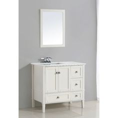 shop for ari kitchen and bath newport white wood and marble 36 inch rh pinterest com