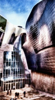 Main Entrance Of Guggenheim Bilbao Museum In The Basque Country Fractal - Weston Westmoreland