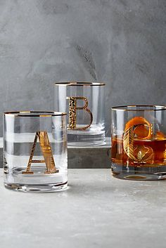 Gilded Monogram DOF Glass