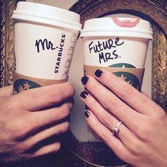 Starbucks Mr and Mrs