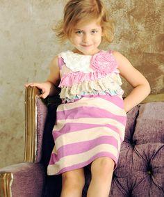 Pink Ella Ruffle A-Line Dress - Infant, Toddler & Girls #zulily #sweet #girls #dresses