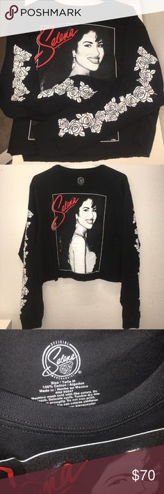Selena Quintanilla Shirt MEDIUM Brand new in packaging...Official Selena merchandise...crop top...size MEDIUM...price is firm Tops Tees - Short Sleeve