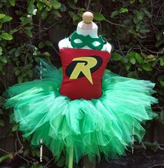 Girls Posh Robin Halloween Tutu Costume Set
