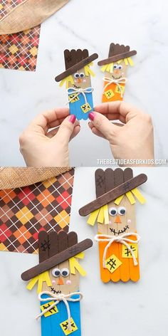 Scarecrow Crafts, Halloween Arts And Crafts, Halloween Crafts For Toddlers, Thanksgiving Crafts For Kids, Crafts For Kids To Make, Christmas Crafts For Kids, Toddler Crafts, Holiday Crafts, Halloween Ideas