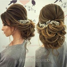 Pretty Bridal Updo #volume #bighair #updo #brooch #weddinghair #bridalhairstyles #bride #weddinghairstyle