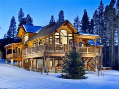 Four O'clock Breckenridge House Rental: Cawha Outlook Chalet Ski Chalet, Ski Vacation, Vacation Rentals, Vacation Spots, Mountain Homes, Mountain Cabins, Mountain Living, Log Cabins, Dreams