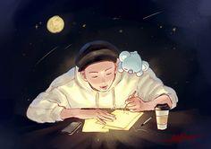'ineedu Poster by pukeychu Bts Drawings, Love Drawings, Namjoon, Hoseok, Fanart Kpop, Pokemon, Bts Rap Monster, Bts Chibi, Bts Fans