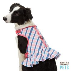 #MarthaStewartPets American Plaid Harness Dress only @petsmartcorp