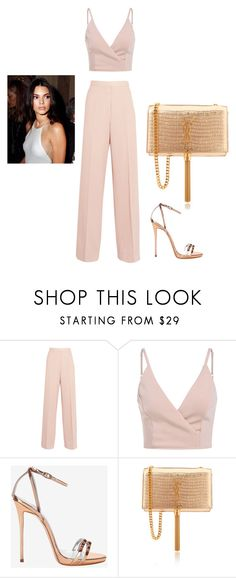 """""""Kendall Jenner #rose #gold #ysl"""" by zainpassed ❤ liked on Polyvore featuring STELLA McCARTNEY, Giuseppe Zanotti and Yves Saint Laurent"""