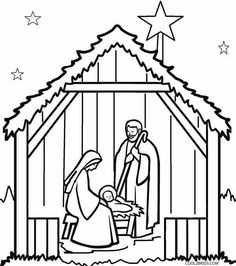 Christmas Nativity Coloring Page crafts Pinterest Christmas