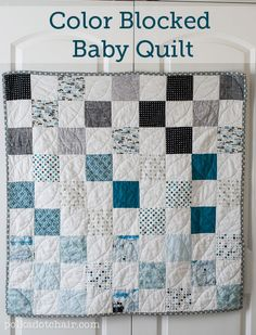 Color Blocked  Baby Quilt..  j, are you liking the color blocking on this...from light to dark or the blues and grays?