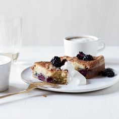This absolutely lovely cake is tender and light, with tart, juicy little bites of blackberry in every bite. It will become your go-to summer cake.