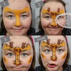 Fast Giraffe Tutorial - Quick Face Painting