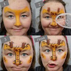 Fast Giraffe Tutorial - Quick Face Painting