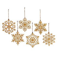 wooden snowflakes $30