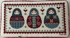 Throwback thursday takes us nine years back when was the last time I did cross stitch. I have made lots of it in the 90s and before 2005. These matryoshka dolls forced me to stitch again. They were fun to stitch. They are still looking me everyday from my bedroom shelf. #tbt #throwbackthursday #crossstitch #matryoshkadoll #crosstitcher Cross Stitch Christmas Cards, Shelves In Bedroom, Matryoshka Doll, The Last Time, Throwback Thursday, Just For Fun, Kids Rugs, Dolls, Crossstitch