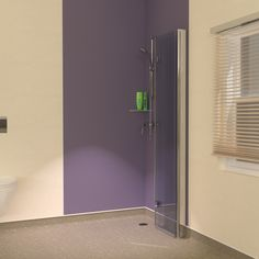 Space saving foldaway hinged glass shower screens for wet room vinyl flooring with cove skirting. Check them out at: http://www.unishower.co.uk/wet-room-vinyl-flooring-screens.html