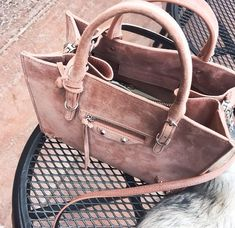 e5a4cbfbe8 Bag  purse designer suede pink balenciaga designer dusty pink suede all  pink wishlist kamel leather - Fashion