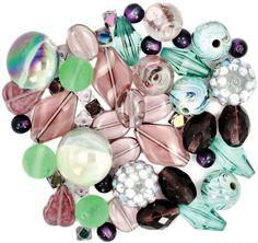 Design Elements Beads 28g - Vanilla Sugar - African Violet