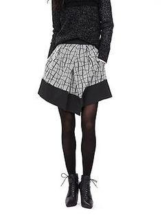 Asymmetrical Jacquard Skirt | Banana Republic