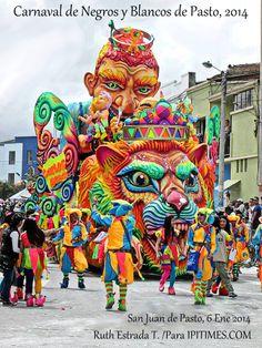 PASTO, NARIÑO, COLOMBIA. Carnaval de Negros y Blancos de San Juan de Pasto, Nariño, Colombia. Foto: Cortesía de Ruth Estrada Tobar, para IPITIMES.COM /Artur Coral /New York.