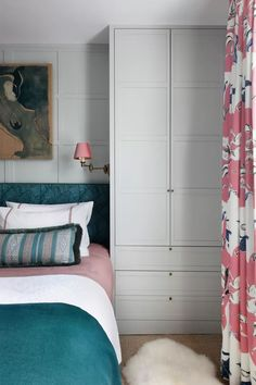 Bed Nook, Small Space Design, London House, Georgian Homes, Front Rooms, Bedroom Storage, Small Rooms, Soft Furnishings, Interior Design