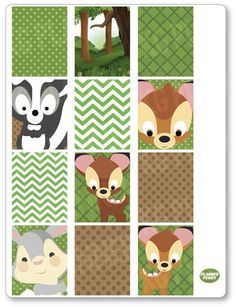 Now available in our store: Baby Deer Full Bo.... Check it out at http://www.plannerpenny.com/products/baby-deer-full-boxes-pdf-printable-planner-stickers