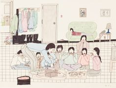 Annie Pootoogook took the Canadian art world by storm when she arrived on the scene with her drawings of daily life in Cape Dorset. Her current solo show at the Agnes Etherington Art Centre reminds. Canadian Artists, American Artists, Annie Pootoogook, Art Inuit, Icelandic Artists, Walt Disney Animation Studios, Arts Award, Popular Art