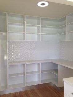 Lots of space in the pantry