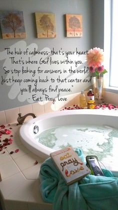 31 trendy bath quotes calm down Words Quotes, Life Quotes, Sayings, Eat Pray Love Quotes, Bath Quotes, Elizabeth Gilbert, Ways To Relax, Some Words, Good Advice