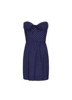 MANGO - Polka-dots bustier dress
