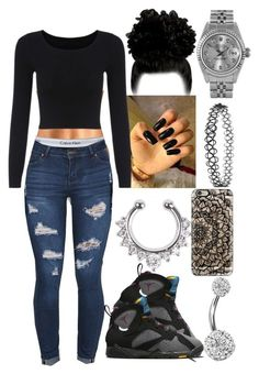 featuring Topshop, Rolex, NIKE, Casetify and Bling Jewelry Moda Outfits, Lit Outfits, Cute Swag Outfits, Teenage Outfits, Teen Fashion Outfits, Look Fashion, Fall Outfits, Casual Outfits, Winter School Outfits
