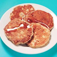 Peanut Butter and Banana panckes Recipe Link: fitnessmagazine.com Click here for more healthy recipes!