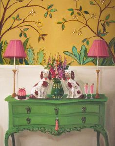 Little Darlings - Janet Hill Studio Art Print Janet Hill, Deco Cool, Little Darlings, Art Studios, Chinoiserie, Decoration, Fine Art Paper, Painted Furniture, Painted Walls