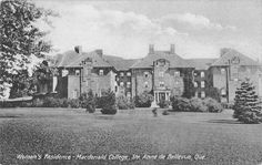 Ste Anne de Bellevue Quebec Canada Macdonald College Dorms Postcard J58840 | eBay