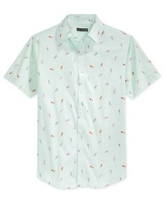 Ocean Current Men's Push Pop Print Short-Sleeve Shirt