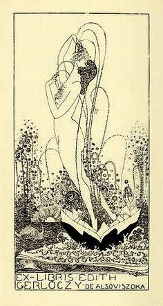 Ex Libris by Attila Sassy (Aiglon). Hungary (1880-1967)