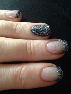 Black birthday nails by Alisha