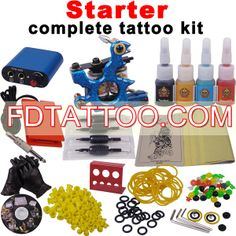 Complete Tattoo Kit with 1 Machines 4 Inks and Power Supply  Wholesale Price:US $33.55 Professional Tattoo Kits, Tattoo Equipment, Tattoo Needles, Tattoo Removal, Tattoo Supplies, Tattoo Machine, New Tattoos, Tattoo Artists, Ink
