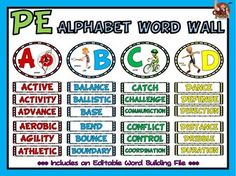 The PE Alphabet Word Wall Display is a valuable resource that was designed to give physical education teachers the ability to easily display…