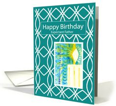 Expectant Father Birthday Lattice Candlelight card