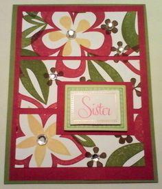 Island Blossoms stamp set / Stampin Up / Karen Comers Cards