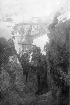 In the trenches WW1 (Austro-Hungarian Army) Possibly the winter of 1914