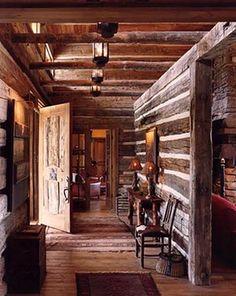 37 rustic log cabin homes design ideas house plans дом мечты Log Cabin Living, Small Log Cabin, Log Cabin Homes, Log Cabins, Mountain Cabins, Rustic Cabins, Rustic Farmhouse Entryway, Craftsman Farmhouse, Modern Farmhouse
