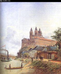Jakob Alt - The Monastery of Melk on the Danube